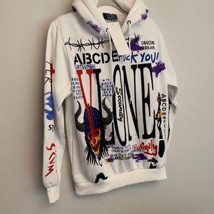NWT VLONE graffiti hoodie size Large